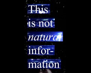 This Is Not Natural Information – 2019